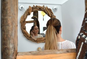 Handmade mirror from driftwood